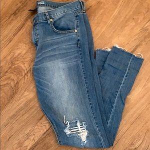 Mossimo Distressed Boyfriend Jeans